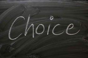Choice-written-on-blackboard