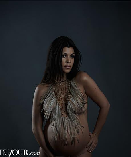 Khloe-Kardashian-pregnant-photos-feather-necklace-DuJour
