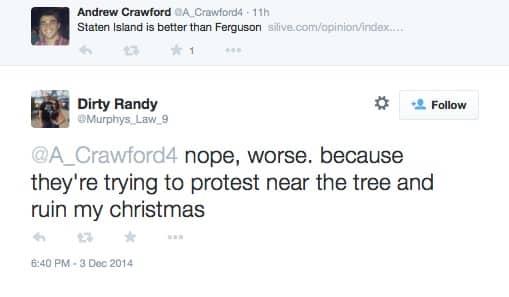eric garner protest christmas tree lighting 2