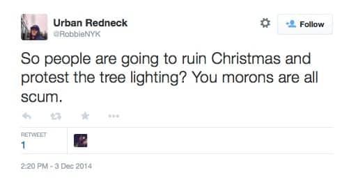 eric garner protest christmas tree lighting 5