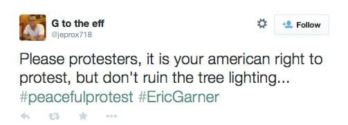 eric garner protest christmas tree lighting 9