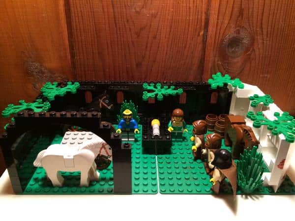 lego nativity scene