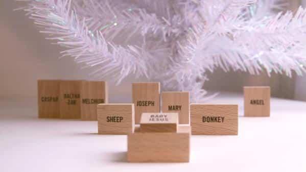 minimalist nativity scene