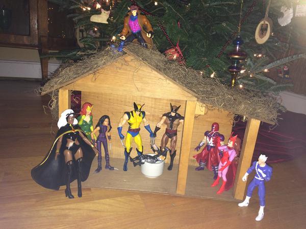 x-men nativity scene