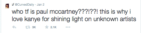 curved daily kanye west paul mccartney
