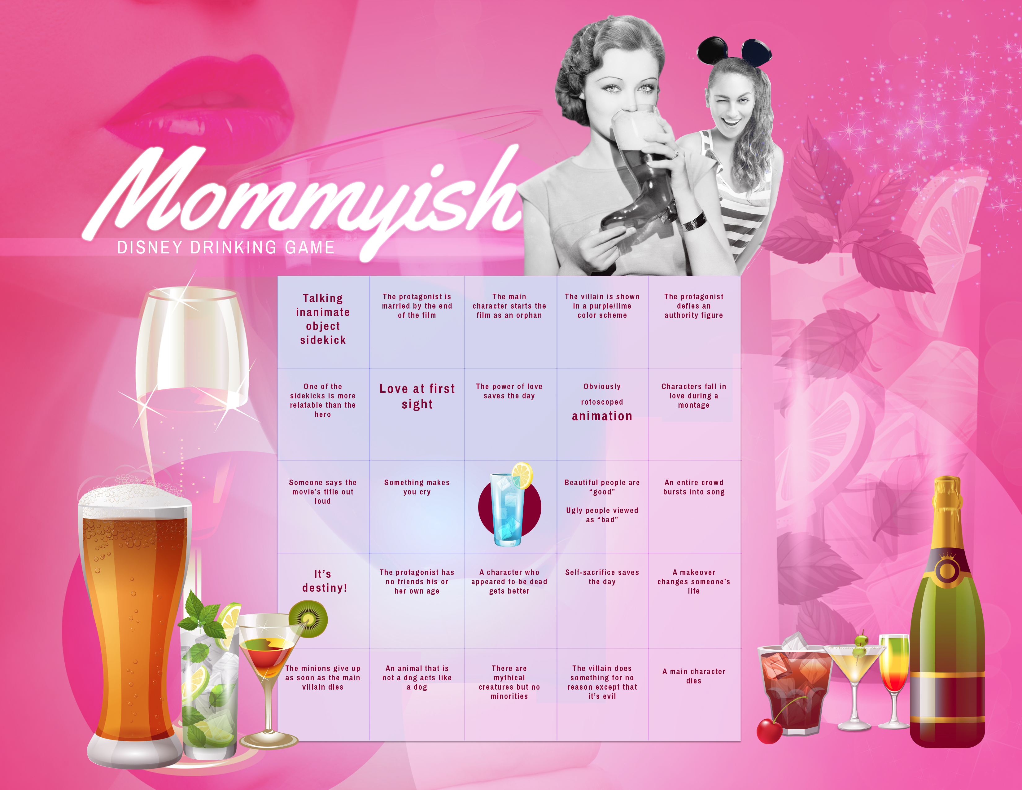 The Official Mommyish Disney Movie Drinking Game