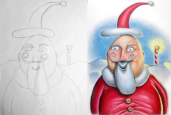 Fred-Giovannitti-drawing-Santa-1
