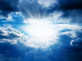 glowing clouds heaven