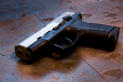 handgun on floor