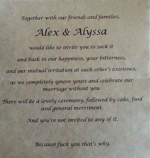 Bride gets back at awful parents with viral wedding invite viral wedding invite spiritdancerdesigns Choice Image
