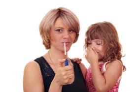 smoking around child