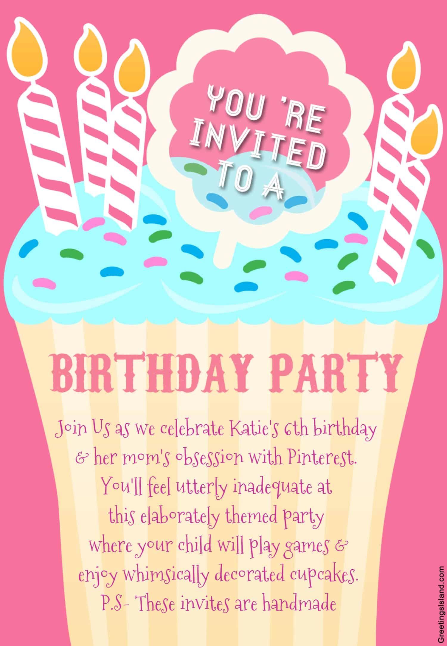 Honest birthday party invitations my invitation stopboris Image collections