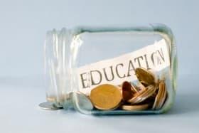 education coin jar