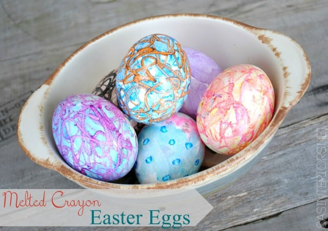 melted crayon eggs