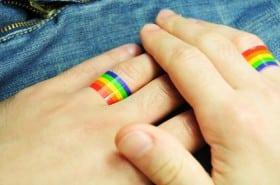 rainbow wedding rings