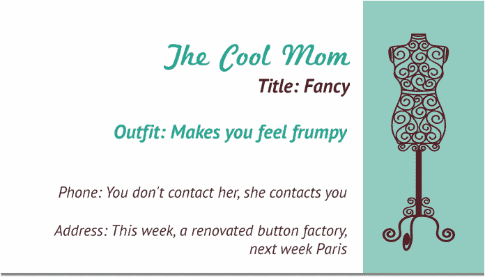 If Stay At Home Moms Had Business Cards
