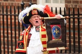 Scenes At The Lindo Wing As It's Announced That The Duchess Of Cambridge Has Given Birth To A Baby Girl