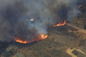 Large Brush Fire in North Los Angeles County