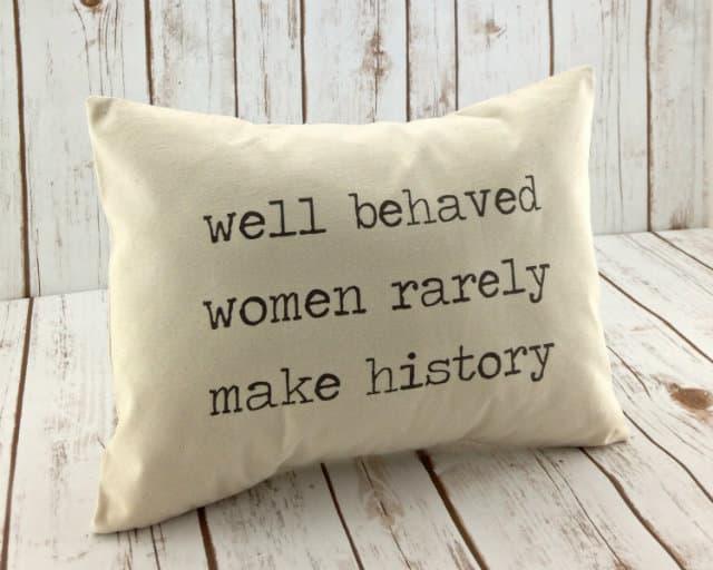 well-behaved-women-pillow