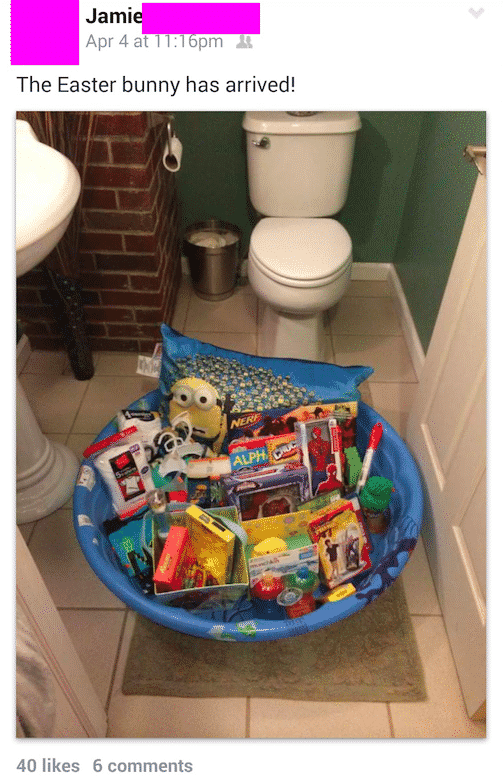 1. normal size basket in pool