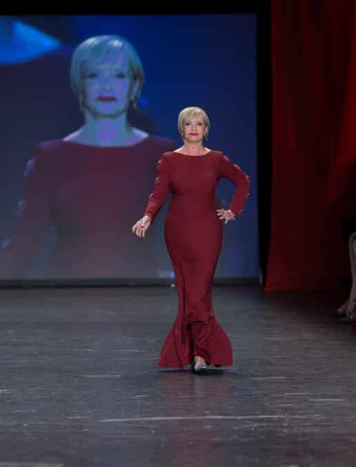 Florence Henderson walks runway for Red Dress