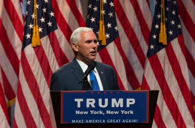 Donald Trump and Governor Mike Pence
