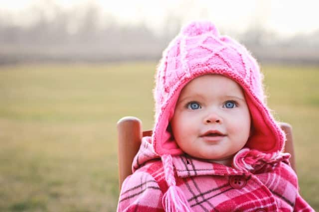 Little Girl In Winter Clothing