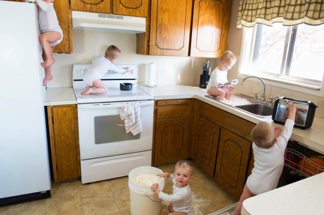 Busy Toddler Destroys Kitchen