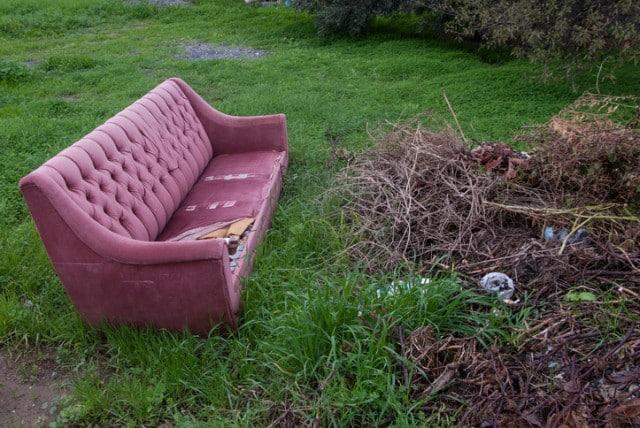 discarded sofa