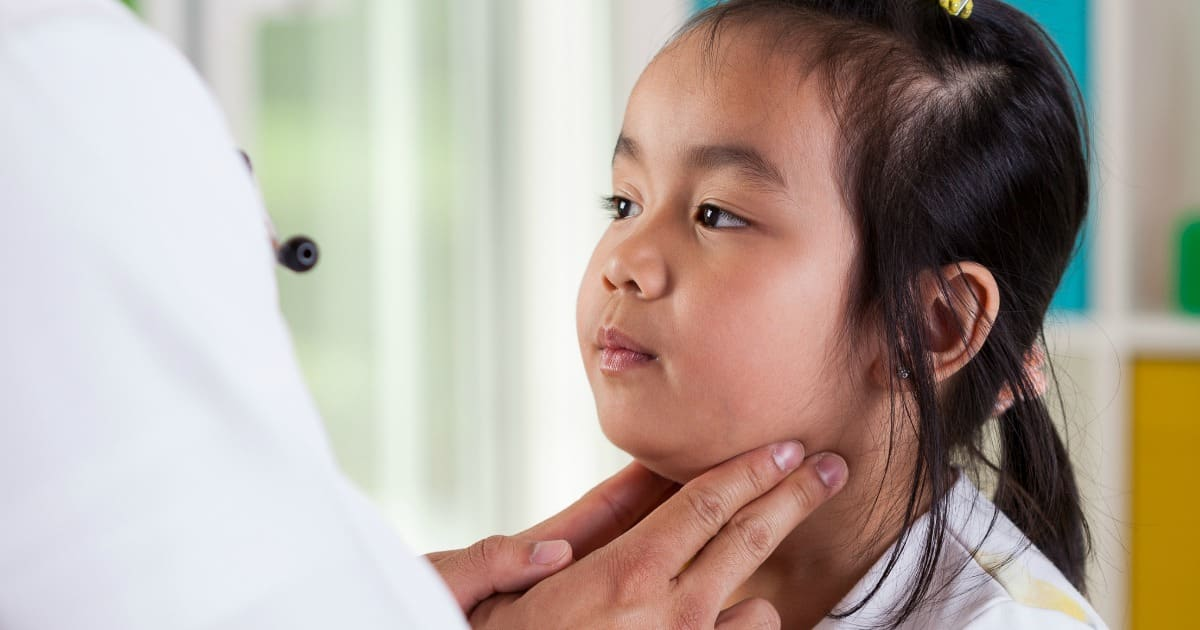 girl at the doctors