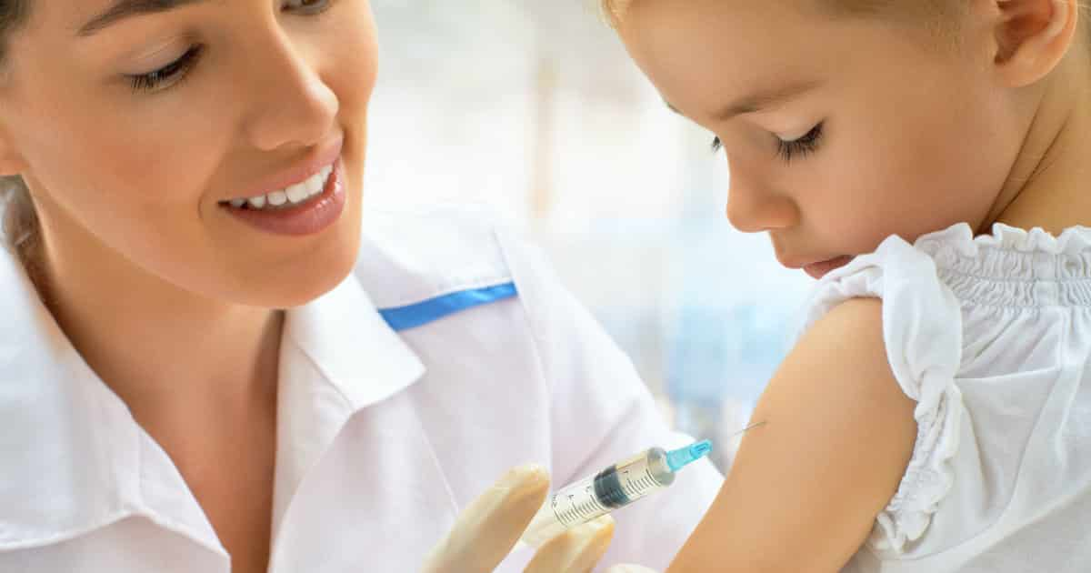 pediatrician giving vaccinations