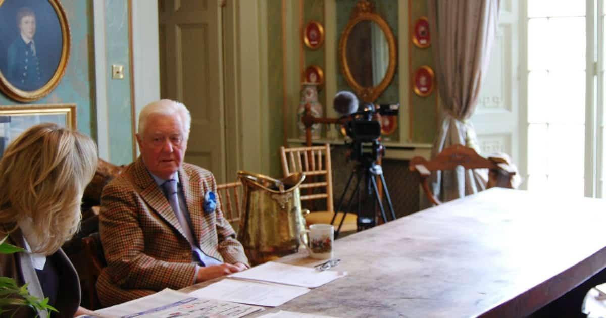 Sir Benjamin Slade filming