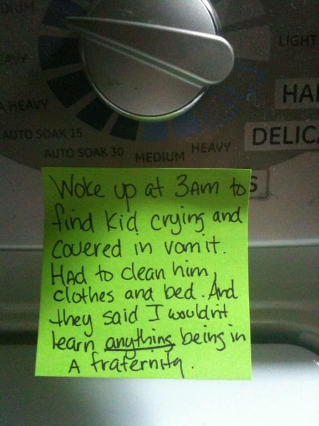 Fraternity post-it