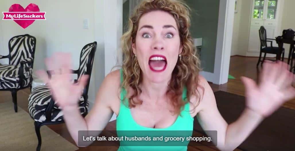 grocery shopping husband mom