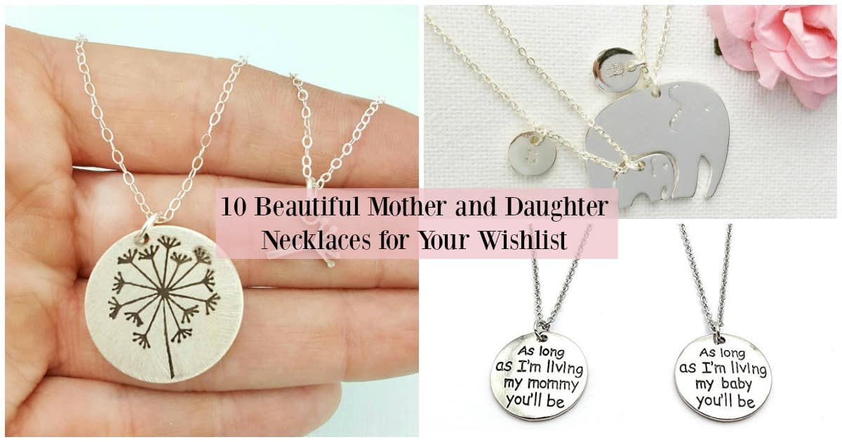 10 beautiful mother and daughter necklaces with mothers day only a few weeks away its not too early to start dropping hints about what youd like mother and daughter necklaces are a lovely way to aloadofball Images