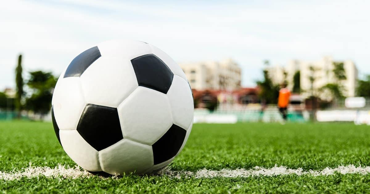 Soccer ball on a field