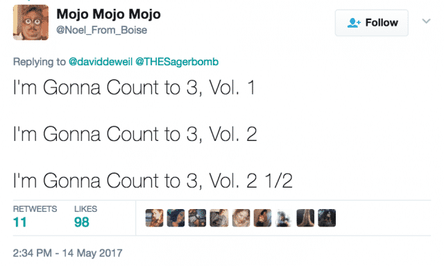 Imma count to 3
