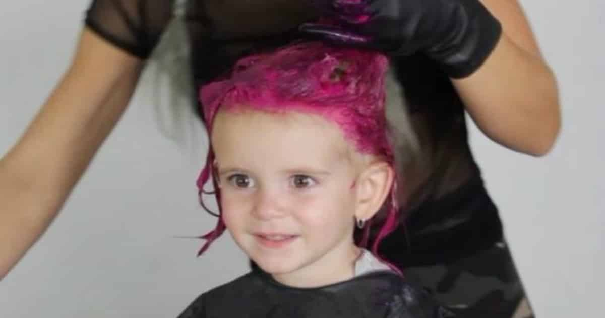Felicity LeBlanc Is The Happiest Two Year Old In Entire World Because Her Mom Just Let Dye Hair Hot Pink And She Looks Absolutely Thrilled