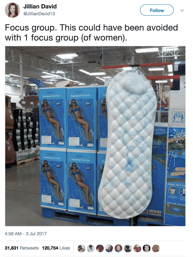 Pool Float Looks Like A Giant Floating Maxi Pad And It S