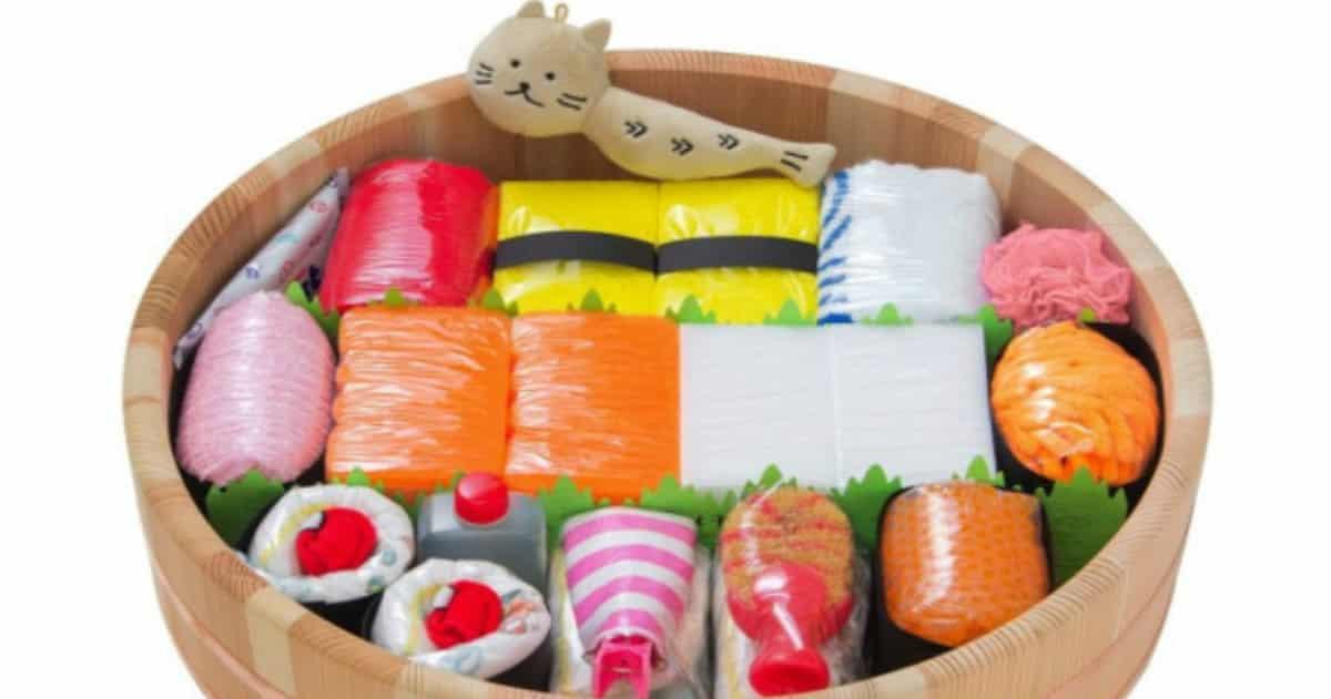 fancy diaper sushi