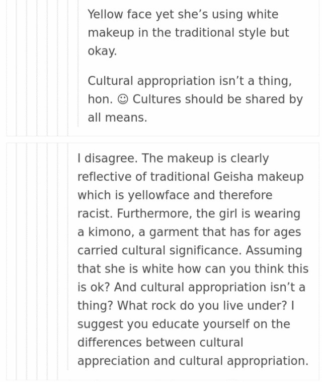 cultural appropriation tumblr