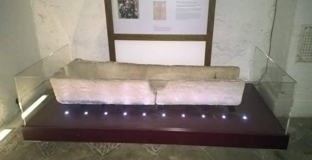 broken museum coffin