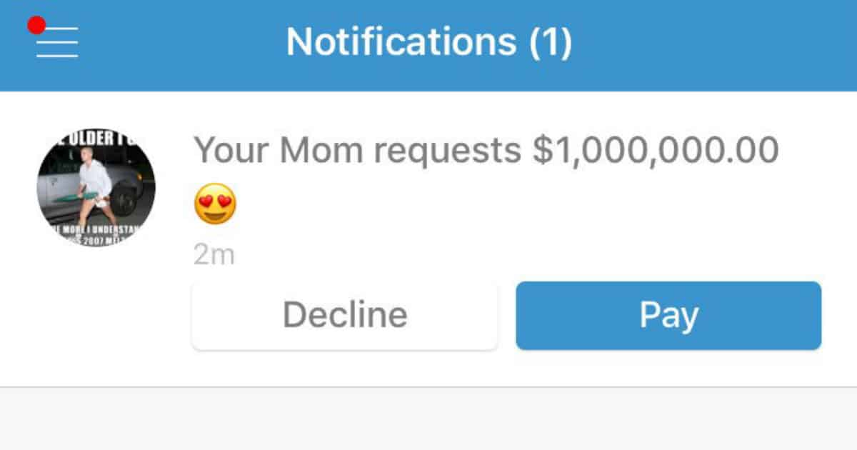 parents using venmo