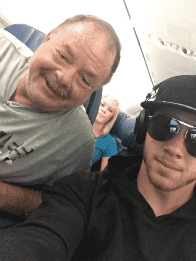 Nick Jonas on a plane!