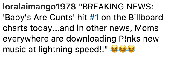Pink ig comments