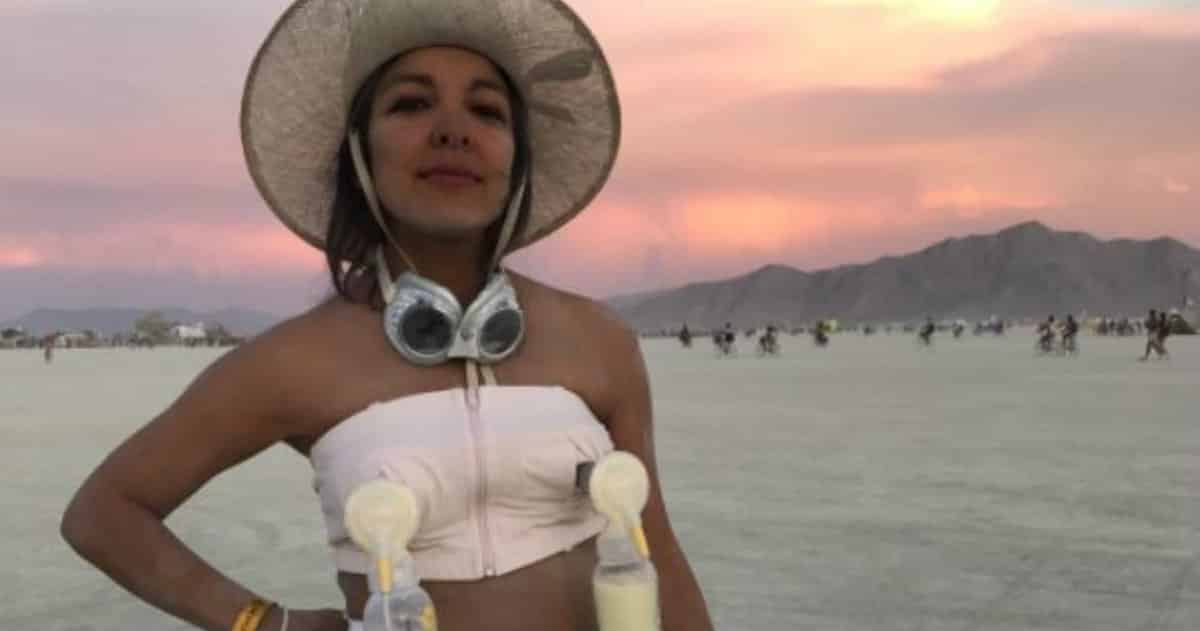 burning man breast milk