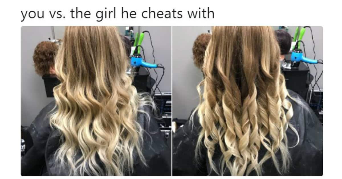 girl he cheats with
