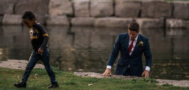 Hero Groom Rescues Boy from Water on His Wedding Day