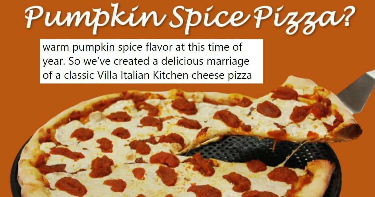 pumpkin spice pizza