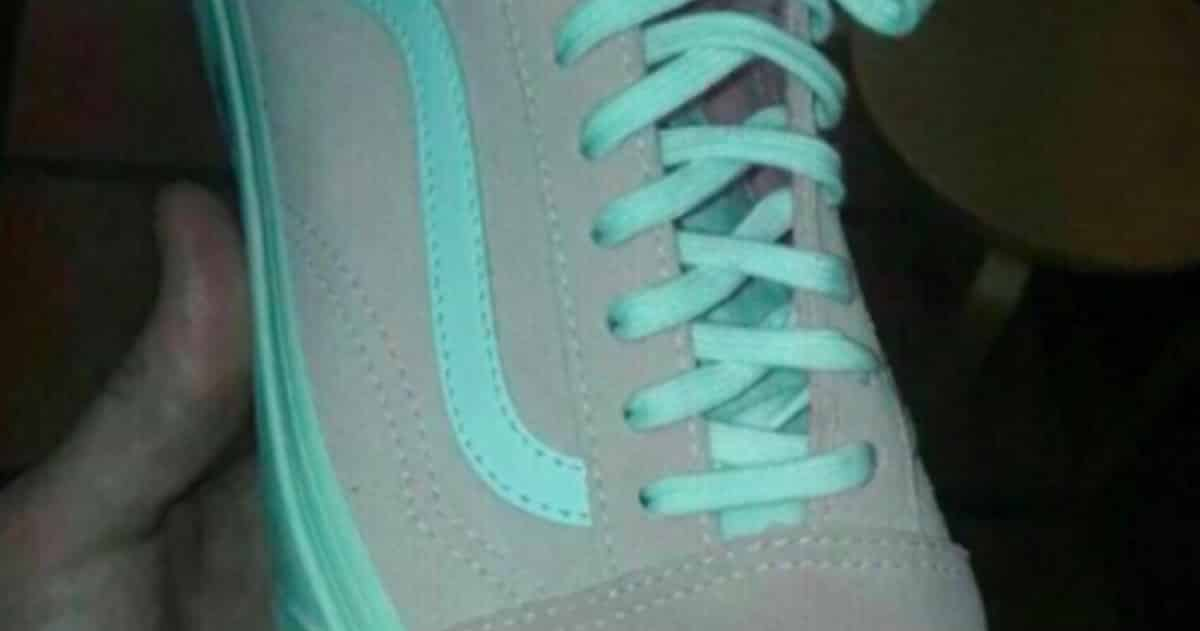 shoes pink and white or gray and teal